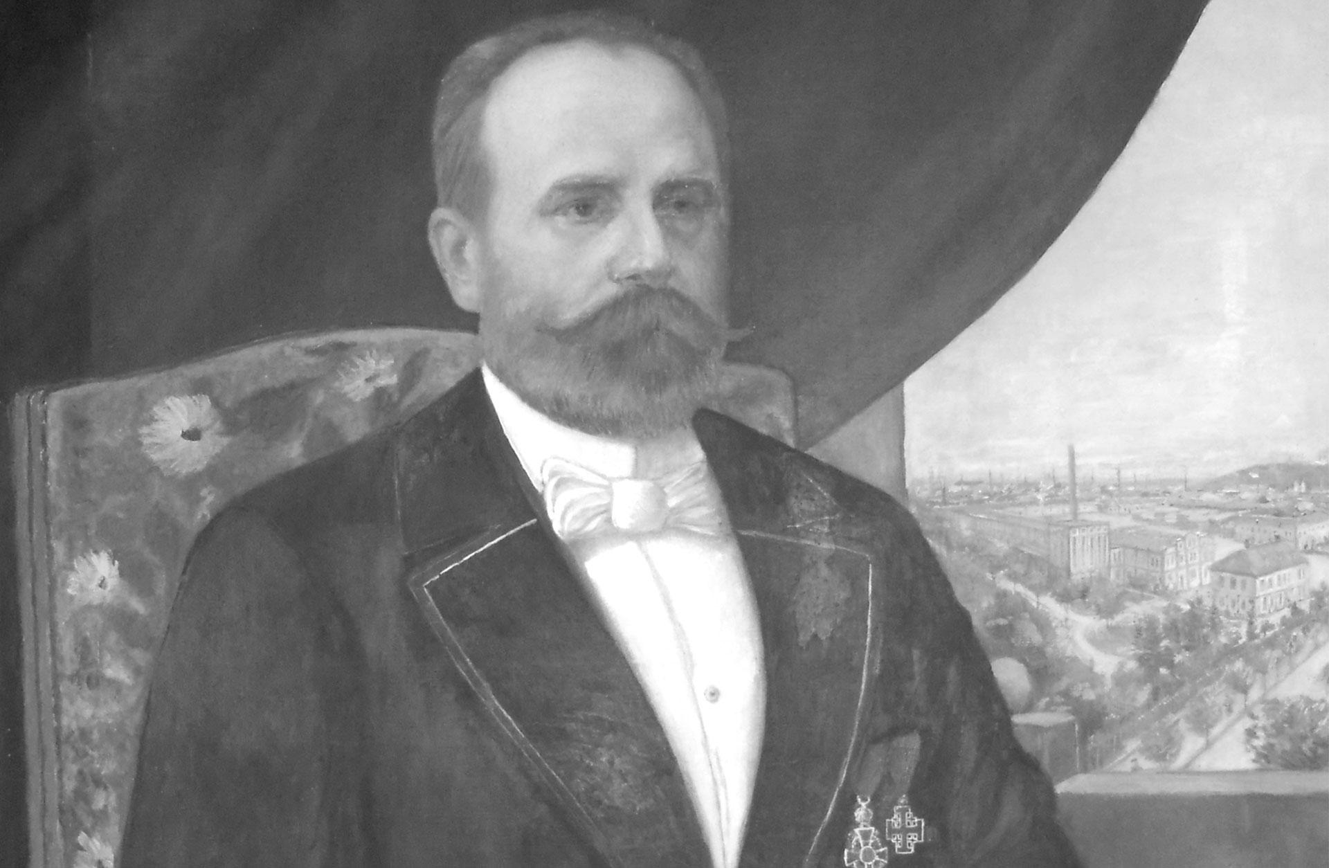 Oljeporträtt av Franz Rieger
