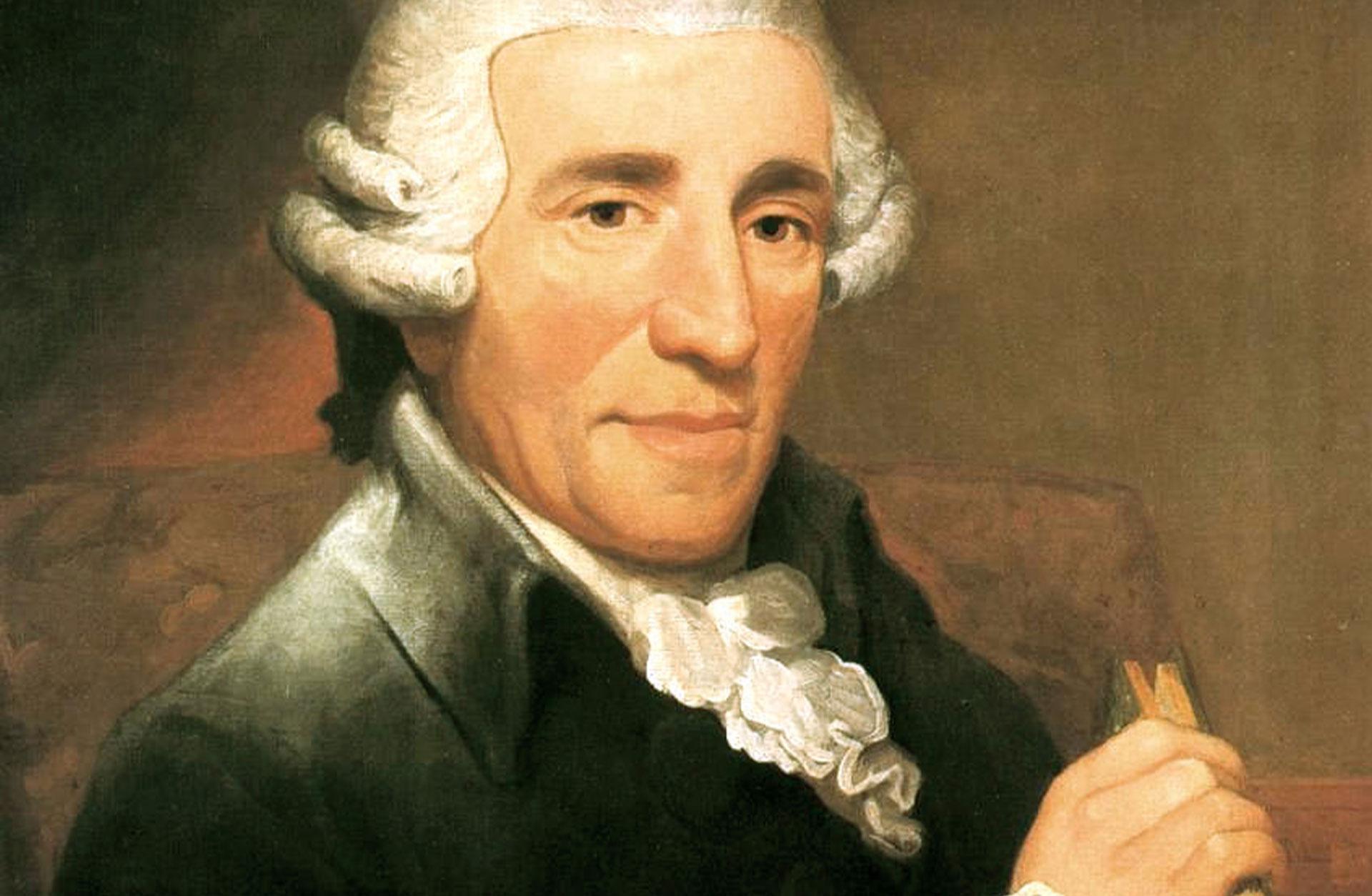 Oljemålning, porträtt av Joseph Haydn